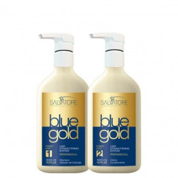 Kit Escova Salvatore Blue Gold 500ml.