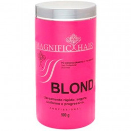 Magnific Hair Blond Pó Descolorante Ultra Rápido Rosa 500g.