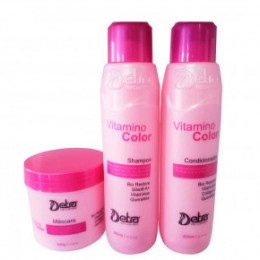 Detra Vitamino Color kit Shampoo Condicionador e Máscara 3x 300ml